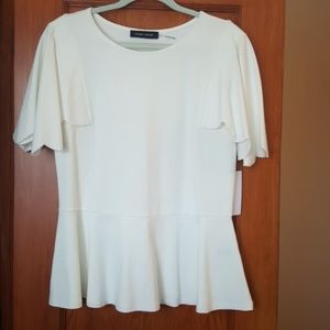 NWT Ivanka Trump Peplum Cape Sleeve Top
